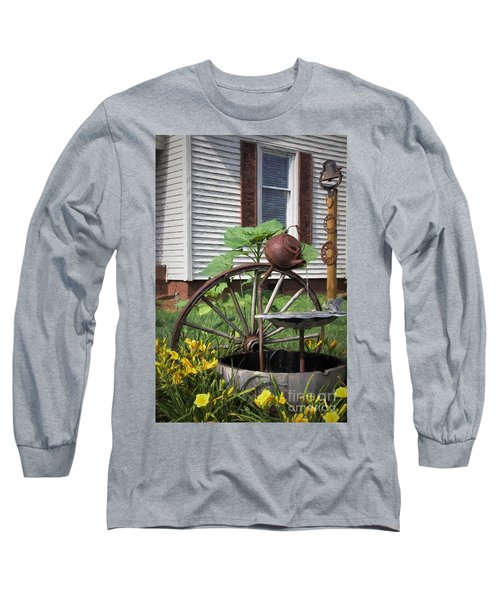 Long Sleeve T-Shirt featuring the photograph Pouring Out The Past by Benanne Stiens