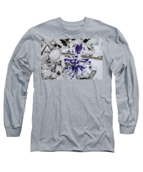 Long Sleeve T-Shirt featuring the photograph Powder-covered Hyacinth by Deborah Smolinske