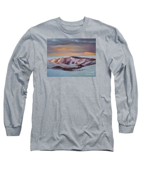 Powder Mountain Long Sleeve T-Shirt by Marlene Book