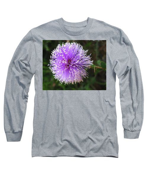 Purple Orb Long Sleeve T-Shirt by Mary Ellen Frazee