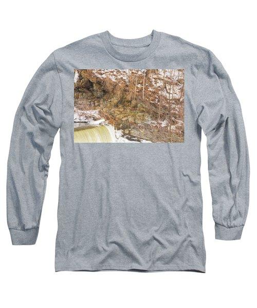 Power Station Falls On Black River Four Long Sleeve T-Shirt