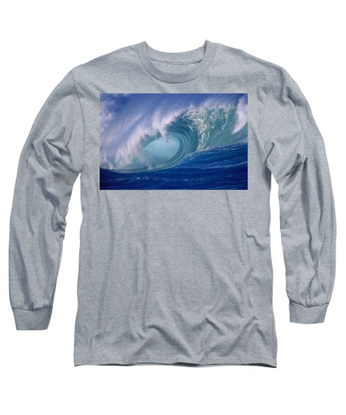 Powerful Surf Long Sleeve T-Shirt by Ron Dahlquist - Printscapes
