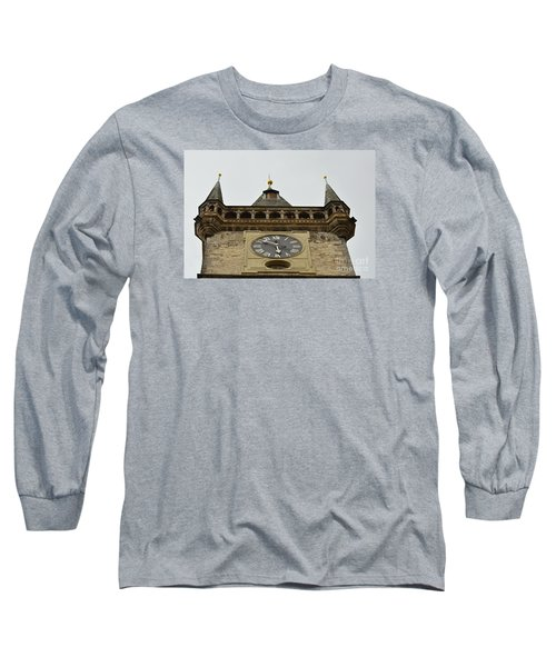 Long Sleeve T-Shirt featuring the digital art Prague-architecture 2 by Leo Symon