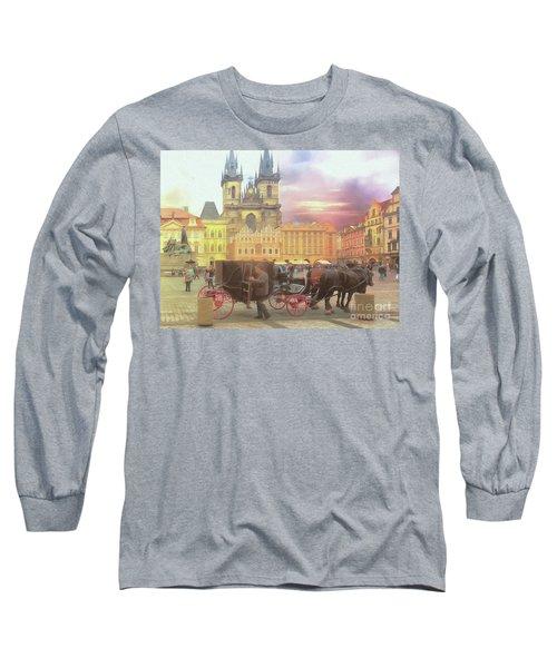 Prague Old Town Square Long Sleeve T-Shirt