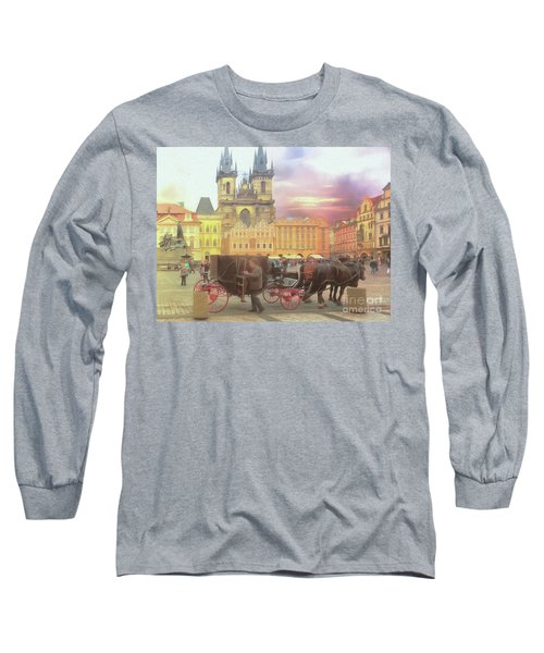 Long Sleeve T-Shirt featuring the photograph Prague Old Town Square by Leigh Kemp