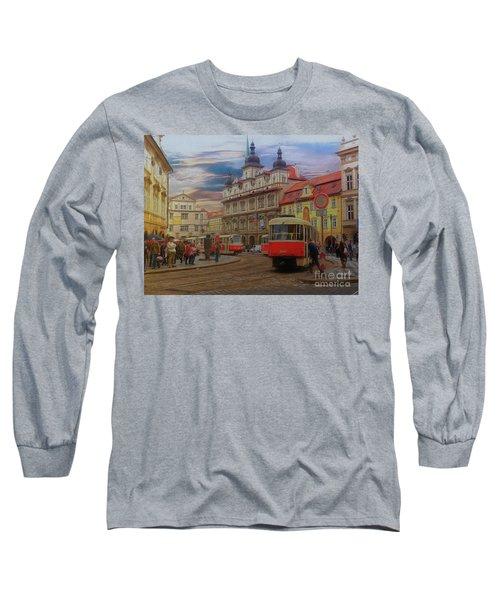 Prague, Old Town, Street Scene Long Sleeve T-Shirt