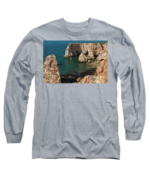Praia Da Marinha Cliffs And Sea Long Sleeve T-Shirt