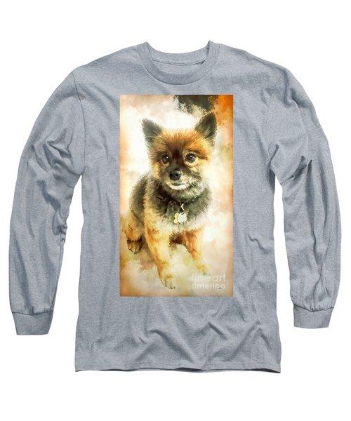 Precious Pomeranian Long Sleeve T-Shirt by Tina LeCour