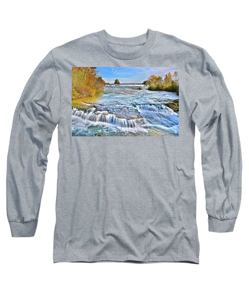 Long Sleeve T-Shirt featuring the photograph Preparing For The Big Fall by Frozen in Time Fine Art Photography