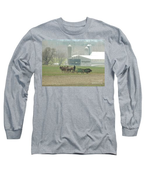 Preparing The Field-two Long Sleeve T-Shirt