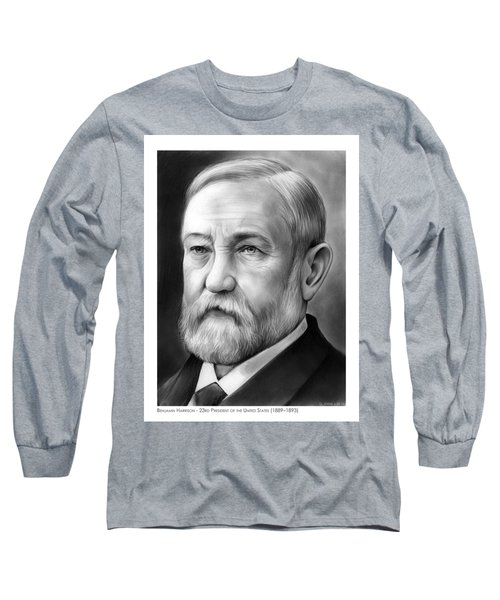 President Benjamin Harrison Long Sleeve T-Shirt