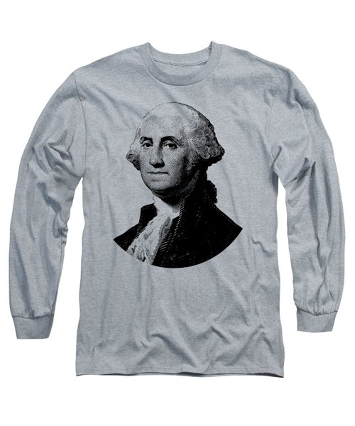 President George Washington Graphic - Black And White Long Sleeve T-Shirt
