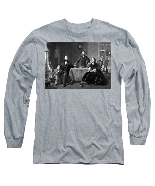 President Lincoln And His Family  Long Sleeve T-Shirt
