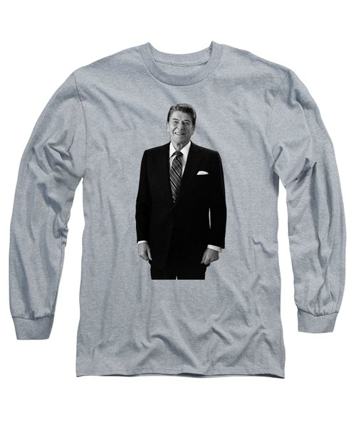 President Ronald Reagan In The Oval Office Long Sleeve T-Shirt