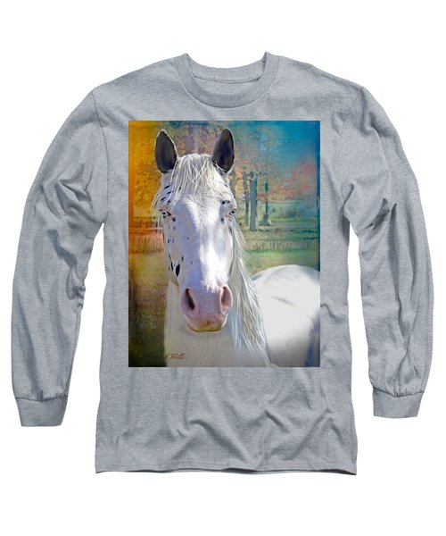 Pretty Eyes Long Sleeve T-Shirt by Bonnie Willis