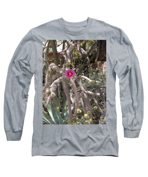 Flower Is Pretty In Pink Cactus Long Sleeve T-Shirt