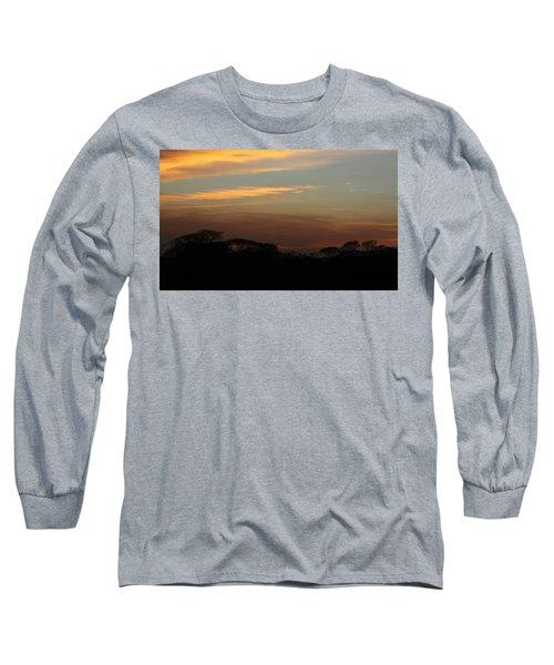 Pretty Pastel Sunset Long Sleeve T-Shirt by Ellen O'Reilly