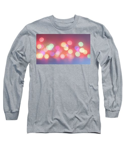 Pretty Pastels Abstract Long Sleeve T-Shirt by Terry DeLuco