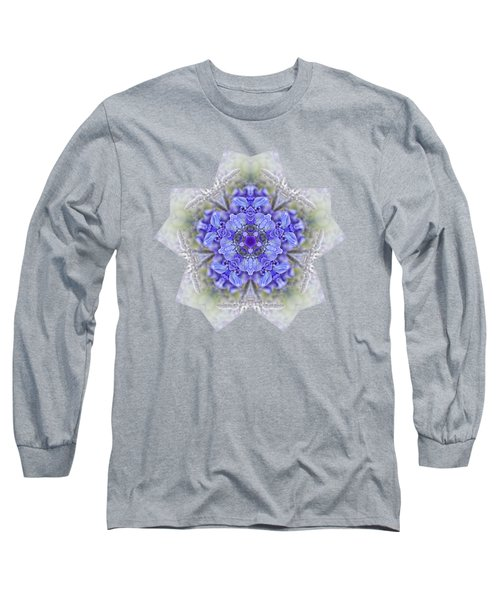 Long Sleeve T-Shirt featuring the photograph Pretty Wisteria Kaleidoscope By Kaye Menner by Kaye Menner
