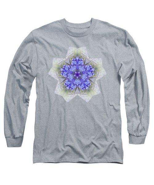 Pretty Wisteria Kaleidoscope By Kaye Menner Long Sleeve T-Shirt