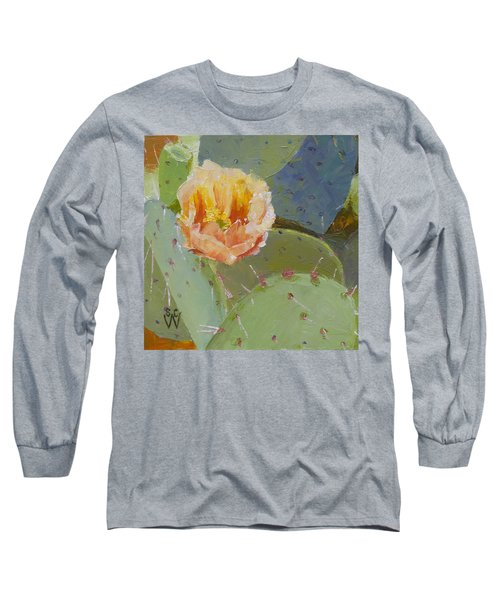 Prickly Pear Blossom Long Sleeve T-Shirt by Susan Woodward