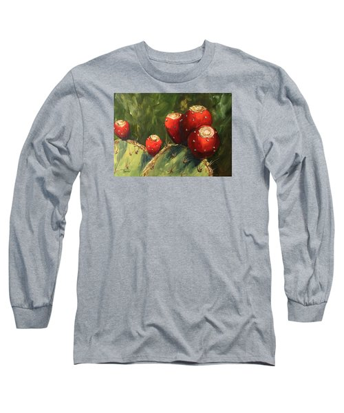 Prickly Pear IIi Long Sleeve T-Shirt by Torrie Smiley