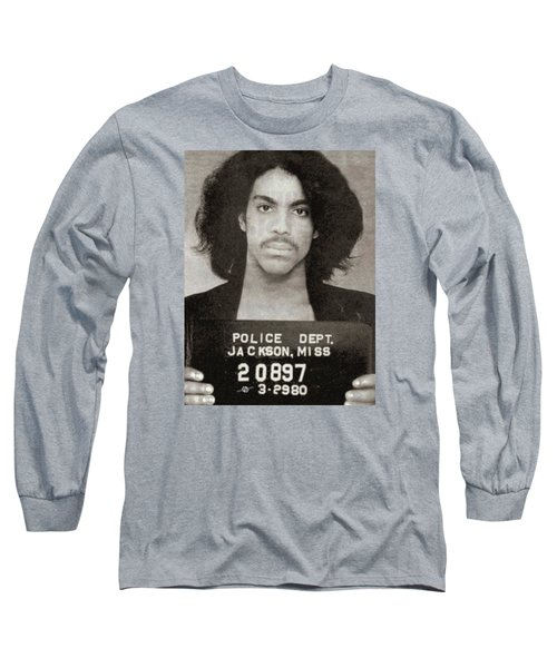 Prince Mug Shot Vertical Long Sleeve T-Shirt