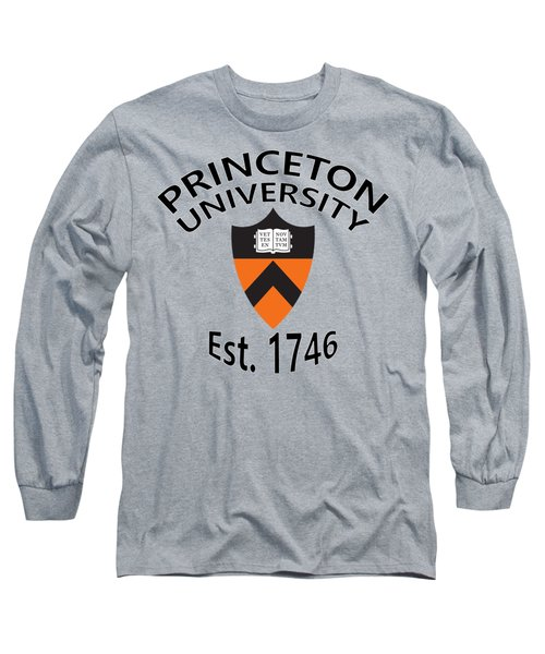 Long Sleeve T-Shirt featuring the digital art Princeton University Est 1746 by Movie Poster Prints