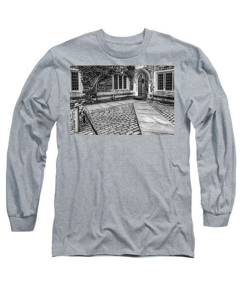 Long Sleeve T-Shirt featuring the photograph Princeton University Foulke Hall Bw by Susan Candelario