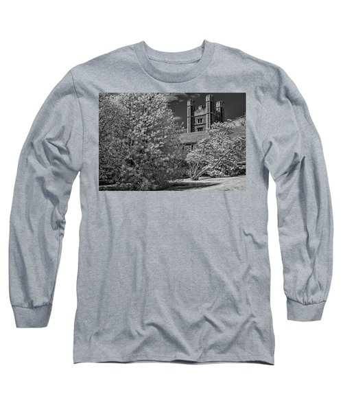 Long Sleeve T-Shirt featuring the photograph Princeton University Buyers Hall by Susan Candelario