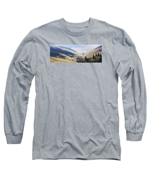 Pristine Panorama- National Bison Range, Montana Long Sleeve T-Shirt by Janie Johnson