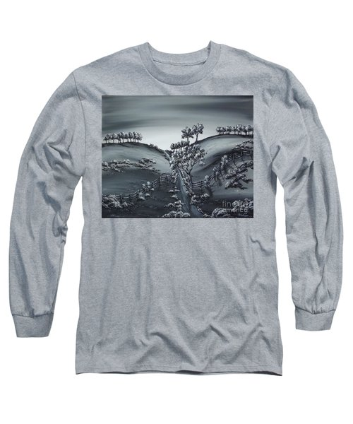 Private Road Long Sleeve T-Shirt by Kenneth Clarke