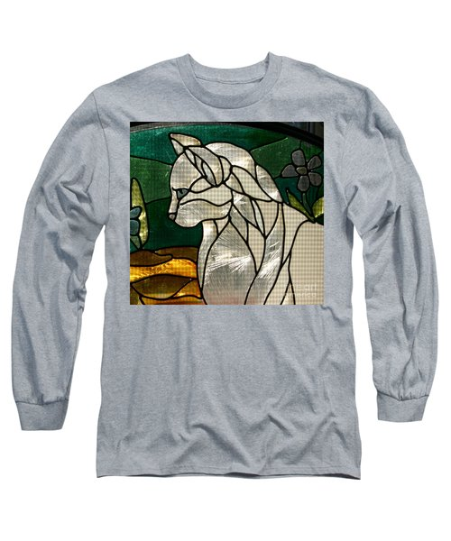 Profile Of A Cat Long Sleeve T-Shirt by Marie Neder