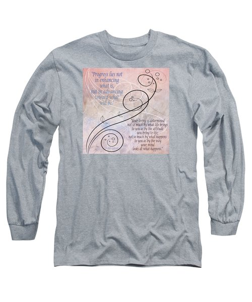 Long Sleeve T-Shirt featuring the digital art Progress by Angelina Vick