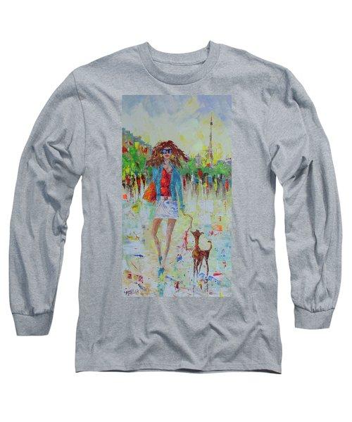 Promade Avec Mon Chien Long Sleeve T-Shirt