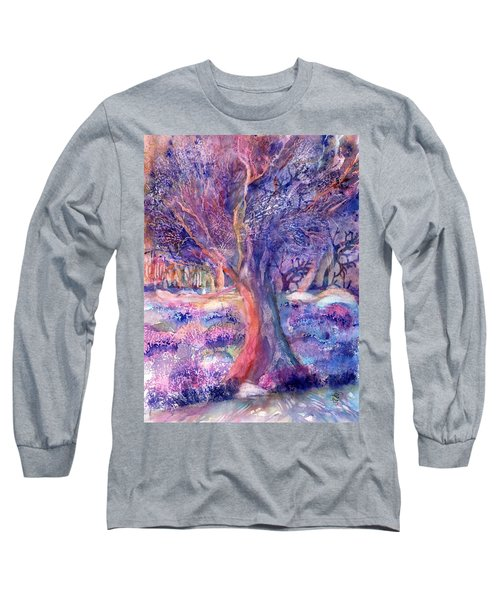 Provence Olive Tree In Lavender Field Long Sleeve T-Shirt