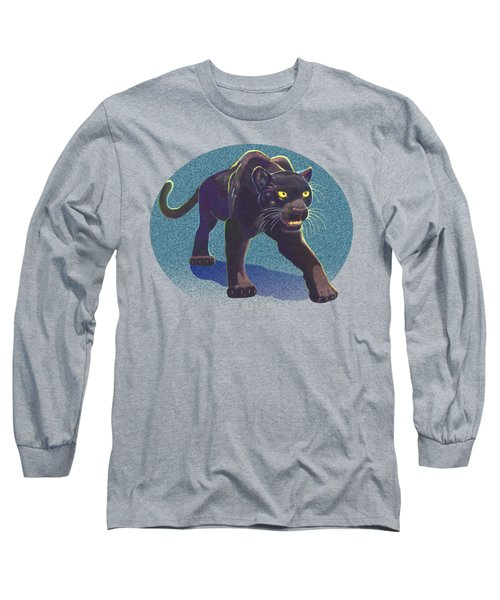 Long Sleeve T-Shirt featuring the mixed media Prowl by J L Meadows
