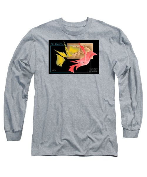 Long Sleeve T-Shirt featuring the photograph P.s. I Love You by Leo Symon