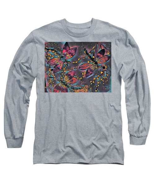 Psychedelic Dragons Long Sleeve T-Shirt by Megan Walsh