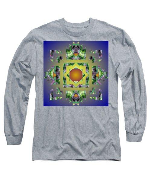 Psychedelic Mandala 002 A Long Sleeve T-Shirt by Larry Capra
