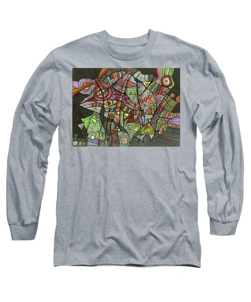 Psychedelic Sea Creature Long Sleeve T-Shirt