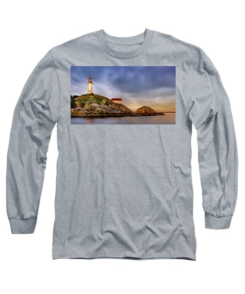 Pt Atkinson Lighthouse Sunset Long Sleeve T-Shirt