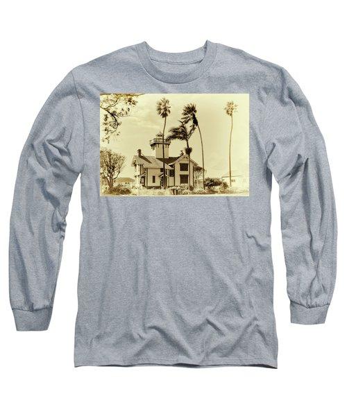 Pt. Fermin Lighthouse Long Sleeve T-Shirt by Joseph Hollingsworth