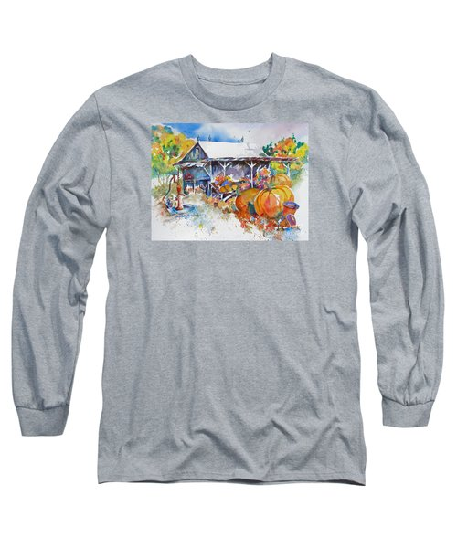 Pumpkin Time Long Sleeve T-Shirt by Mary Haley-Rocks