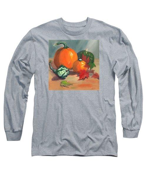 Pumpkins Long Sleeve T-Shirt by Susan Thomas