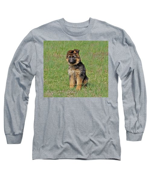 Long Sleeve T-Shirt featuring the photograph Puppy Halo by Sandy Keeton