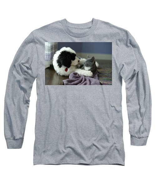 Long Sleeve T-Shirt featuring the photograph Puppy Love by Linda Mishler