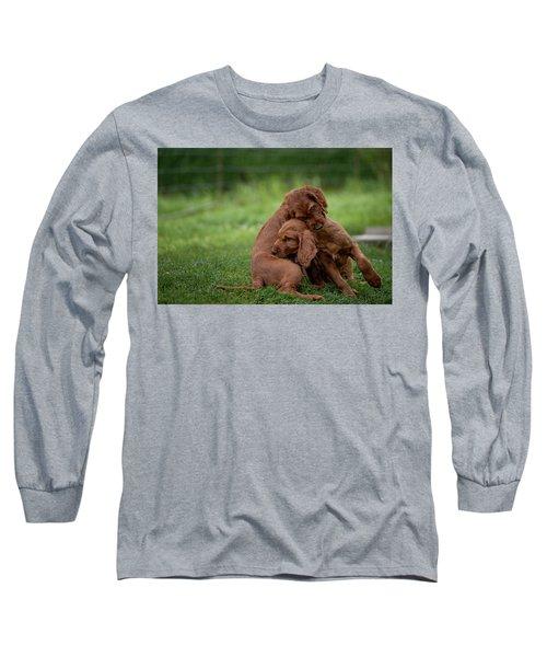 Puppy Love Long Sleeve T-Shirt by Robert Krajnc