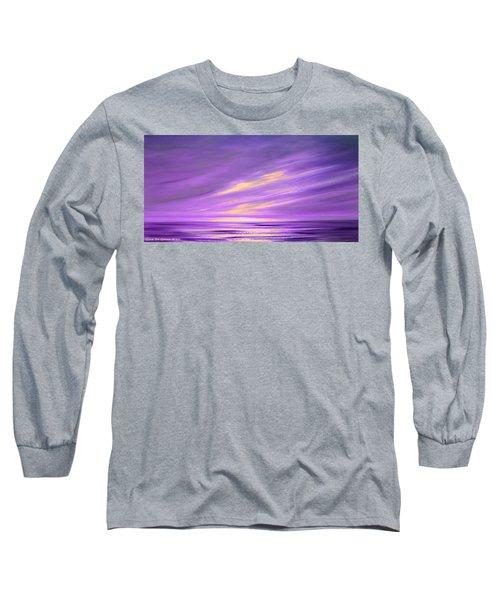 Purple Abstract Sunset Long Sleeve T-Shirt