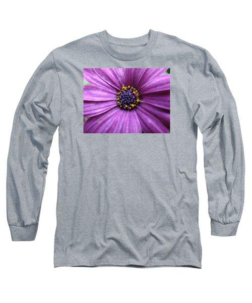 Purple African Daisy Long Sleeve T-Shirt